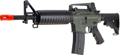 Jing Gong (JG)  2 JG aeg-m733/retractable stock nicads/charger included-metal g-bx(Airsoft Gun)