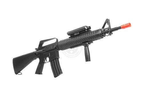 Well  4 wellfire m16a3 Spring Airsoft Rifle - w/Vertical Grip & Flashlight Unit m16(Airsoft Gun)