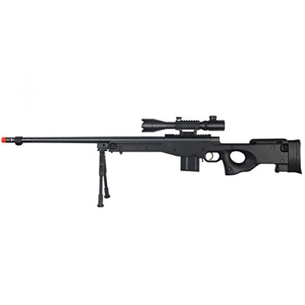 Well Airsoft Rifle 1 Well MB4402 Airsoft Sinper Rifle W/ 4-16X50MM TRI-Rail TED Rifle Scope and Bipod - Black