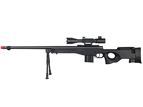 Well  1 Well MB4402 Airsoft Sinper Rifle W/ 4-16X50MM TRI-Rail TED Rifle Scope and Bipod - Black