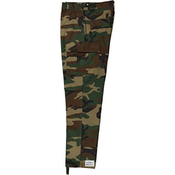 Army Universe Tactical Pant 3 Mens Woodland Camouflage Poly/Cotton Military BDU Army Fatigues Cargo Pants with Pin