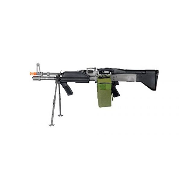 GLORYFIRE Airsoft Rifle 1 GLORYFIRE MK43 AEG Metal Gear Full Metal Body Integrated Bipod