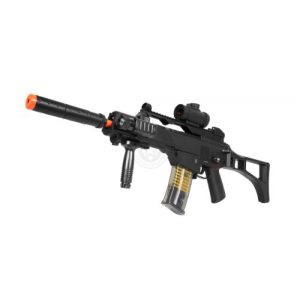 TAC Airsoft Rifle 1 DE R36C TacSpec Electric AEG Rifle w/Flashlight and Red Dot Scope