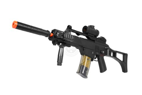 TAC  1 DE R36C TacSpec Electric AEG Rifle w/Flashlight and Red Dot Scope