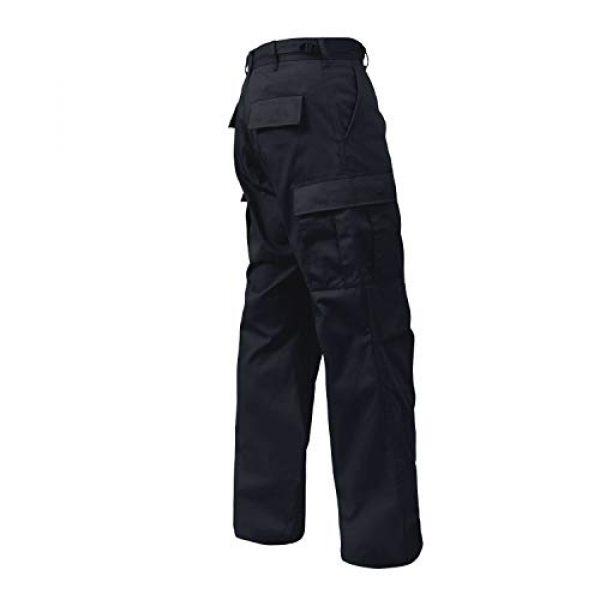 "Rothco Tactical Pant 2 Tactical BDU (Battle Dress Uniform) Military Cargo Pants, L (35""-39"" Waist), Midnight Navy Blue"