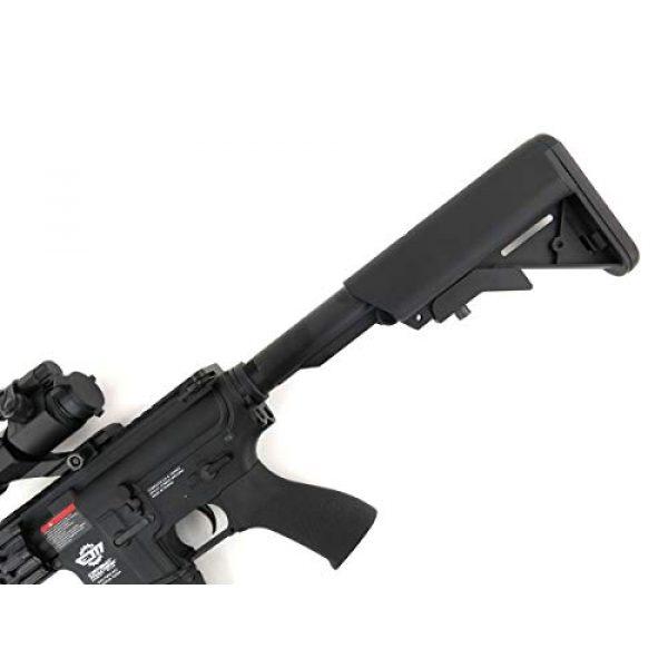 G&G Airsoft Rifle 7 G&G CM16 R8-L Combat Machine M4 AEG Airsoft Gun (Black) w/Red Dot Sight (Combo)