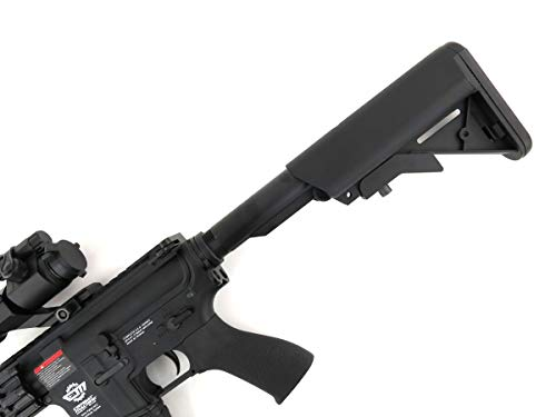 G&G  7 G&G CM16 R8-L Combat Machine M4 AEG Airsoft Gun (Black) w/Red Dot Sight (Combo)
