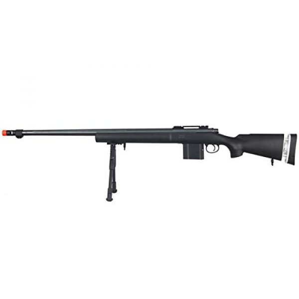 Well Airsoft Rifle 1 Well MB4405 Airsoft Sniper Rifle W/Bipod - Black