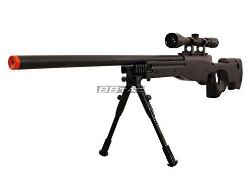 BBTac  2 BBTac b96 awp airsoft sniper rifle with 3-9x40 scope and bi-pod warrior 1(Airsoft Gun)