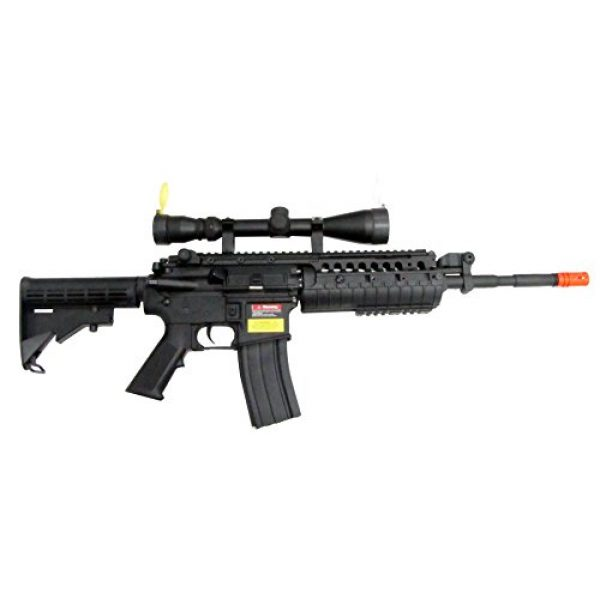 Jing Gong (JG) Airsoft Rifle 1 JG M4 RIS System with Rifle Scope Sniper Airsoft Gun 500 FPS