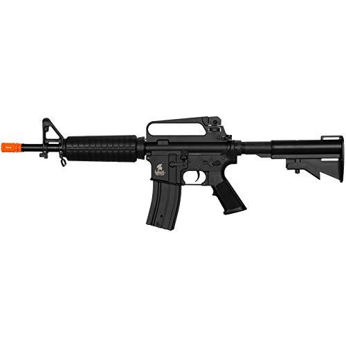 Lancer Tactical  1 Lancer Tactical LT-01C Airsoft M4 Commando AEG Rifle Black