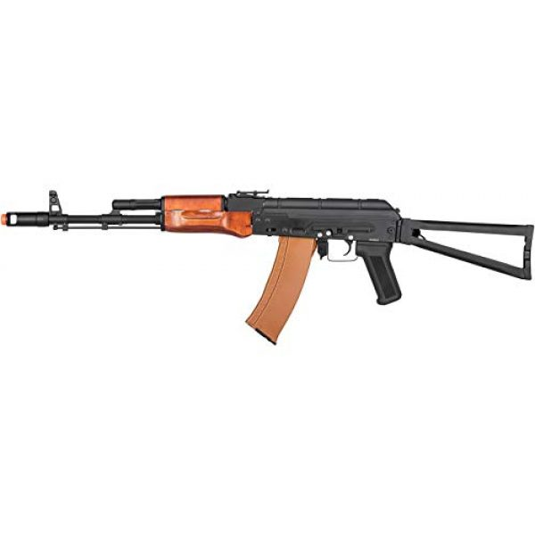 Double Bell Airsoft Rifle 1 Double Bell AKS-74 Airsoft AEG Rifle with Wood Furniture (Black)
