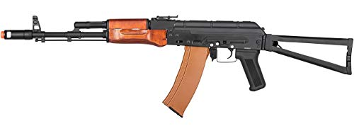 Double Bell  1 Double Bell AKS-74 Airsoft AEG Rifle with Wood Furniture (Black)