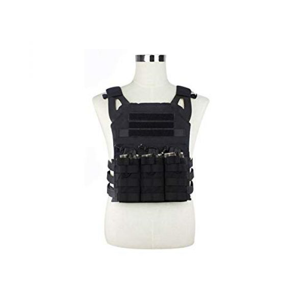 Mlida Airsoft Tactical Vest 7 Mlida Tactical Vest, Modular Lightweight Durable Tactical Gear, Adjustable Ultra-Light Breathable Protection Vest for Outdoor Paintball Training - Black