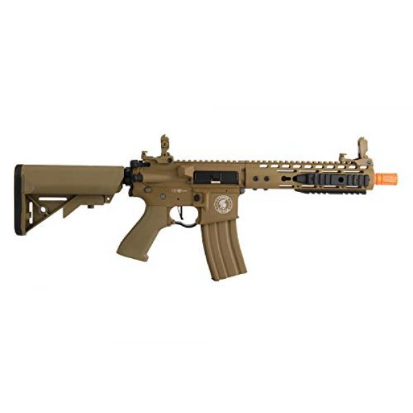 """Lancer Tactical Airsoft Rifle 2 Lancer Tactical Proline 9"""" KeyMod with Picatinny M4 Carbine AEG Airsoft Rifle Tan 395 FPS"""