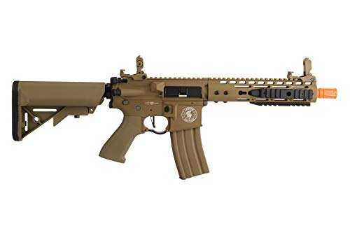 "Lancer Tactical  2 Lancer Tactical Proline 9"" KeyMod with Picatinny M4 Carbine AEG Airsoft Rifle Tan 395 FPS"