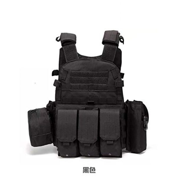 HAOWUTX Airsoft Tactical Vest 1 HAOWUTX Tactical Vest Outdoor Multifunctional Military Training Combat Exercise Combination Vest