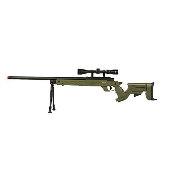 Well Airsoft Rifle 1 Well SR22 Airsoft Sniper Rifle Airsoft Gun (OD/Scope & Bipod)