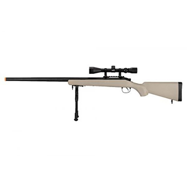 Well Airsoft Rifle 1 Well VSR-10 Bolt Action Airsoft Rifle w/Scope Bipod (Tan/Long)