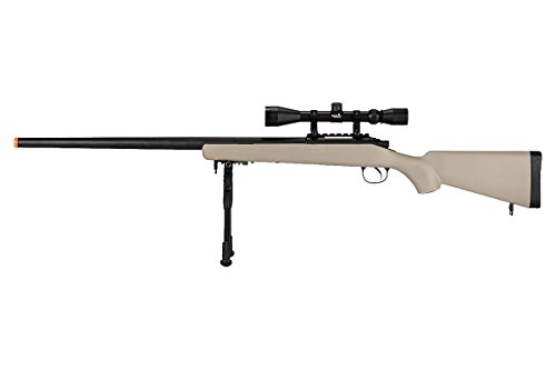 Well  1 Well VSR-10 Bolt Action Airsoft Rifle w/Scope Bipod (Tan/Long)