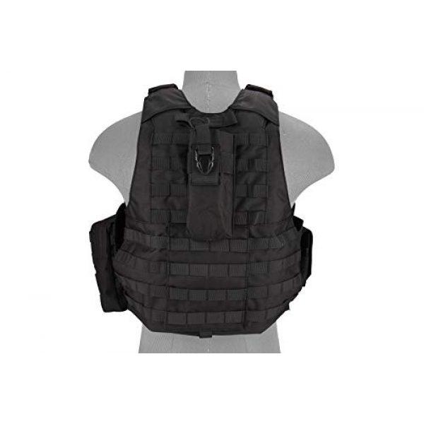 Lancer Tactical Airsoft Tactical Vest 4 Lancer Tactical 1000D Nylon Airsoft Combat Training Tactical Strike Assault Vest Black Adjustable