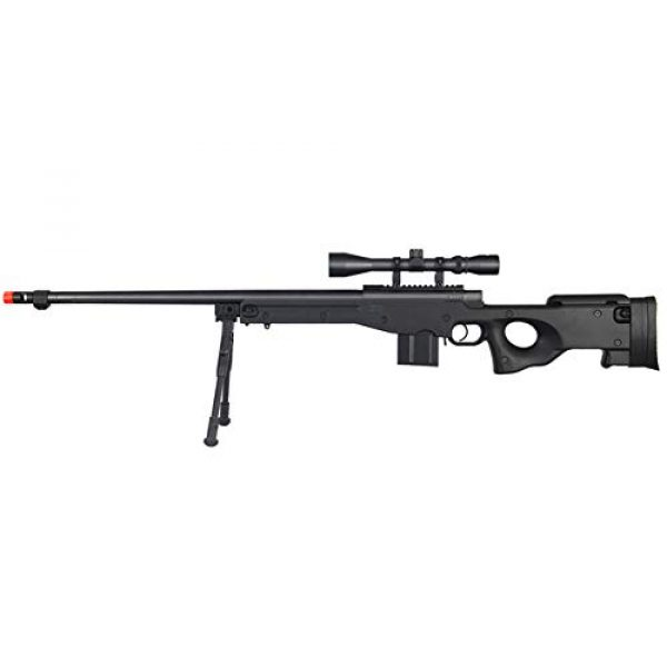 Well Airsoft Rifle 1 Well MB4402 Airsoft Sinper Rifle W/Scope and Bipod - Black