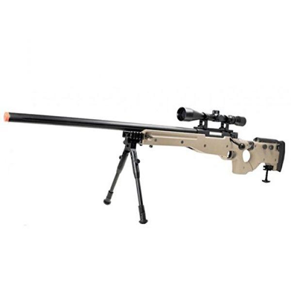 Well Airsoft Rifle 1 Well mb08d l96 spring airsoft gun metal sniper fps-450 w/ 3-9x40 scope & bipod (tan)(Airsoft Gun)