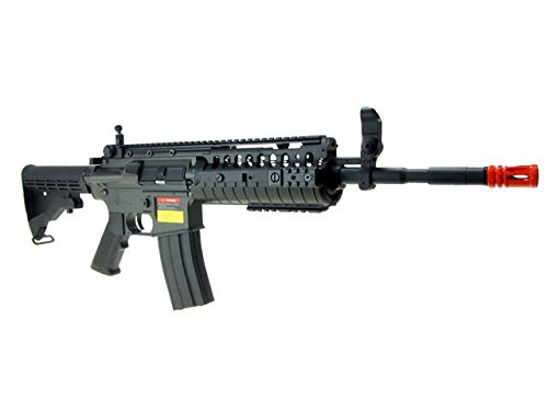 Jing Gong (JG)  2 JG airsoft m 4 s-system full metal gearbox black aeg rifle w/ integrated ris and high performance tight bore barrel - newest enhanced model(Airsoft Gun)