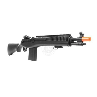 Electric  4 enhanced 2012 full auto electric fps-330 m14 aeg fully automatic and semi automatic airsoft electric gun w/ rail system! 34 inches long! free high capacity magazine