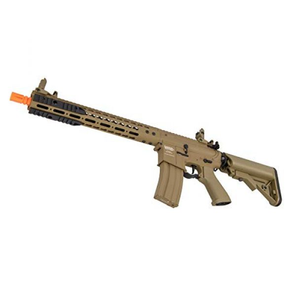 """Lancer Tactical Airsoft Rifle 4 Lancer Tactical 12"""" KeyMod Rail with Picatinny Carbine AEG Airsoft Rifle Tan 395 FPS"""