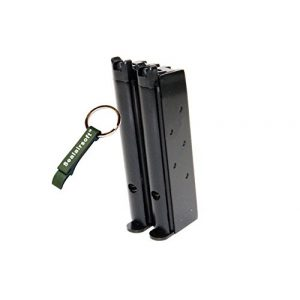 WE Airsoft Gun Magazine 1 WE 48rds Airsoft Gas Magazine For Double Barrel 1911 Series GBB -Mobile Ring Included