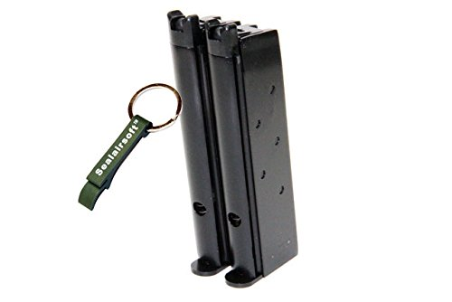 WE  1 WE 48rds Airsoft Gas Magazine For Double Barrel 1911 Series GBB -Mobile Ring Included