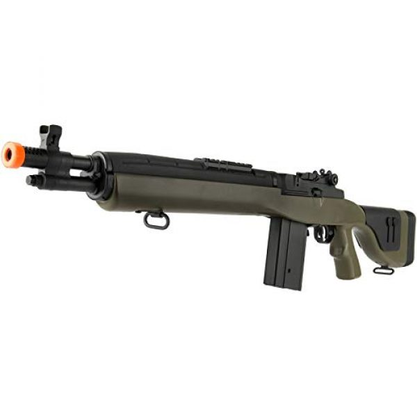 "Lancer Tactical Airsoft Rifle 3 Lancer Tactical LT-732 DMR Stock 38"" M14 SOCOM Airsoft AEG Rifle OD Green"