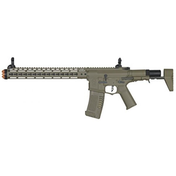 Elite Force Airsoft Rifle 1 Elite Force Amoeba AM-016 AEG Powered Automatic 6mm BB Rifle Airsoft Gun, Dark Earth Brown, One Size (2264505)