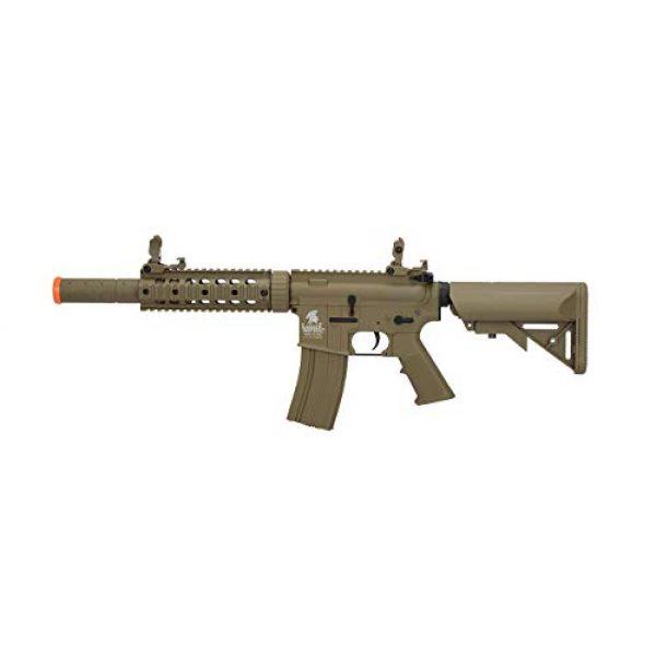 Lancer Tactical Airsoft Rifle 1 LT-15T M4 SD Metal Gear Airsoft Rifle Gun AEG Full/Semi Automatic Tan 400 FPS