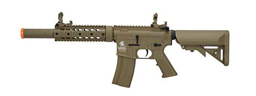 Lancer Tactical  1 LT-15T M4 SD Metal Gear Airsoft Rifle Gun AEG Full/Semi Automatic Tan 400 FPS
