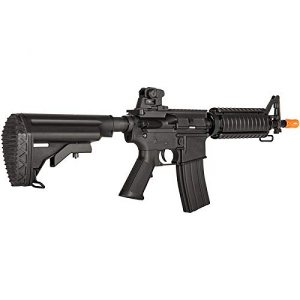 Lancer Tactical Airsoft Rifle 4 Lancer Tactical Airsoft M4 AEG Rifle with Crane Stock Black