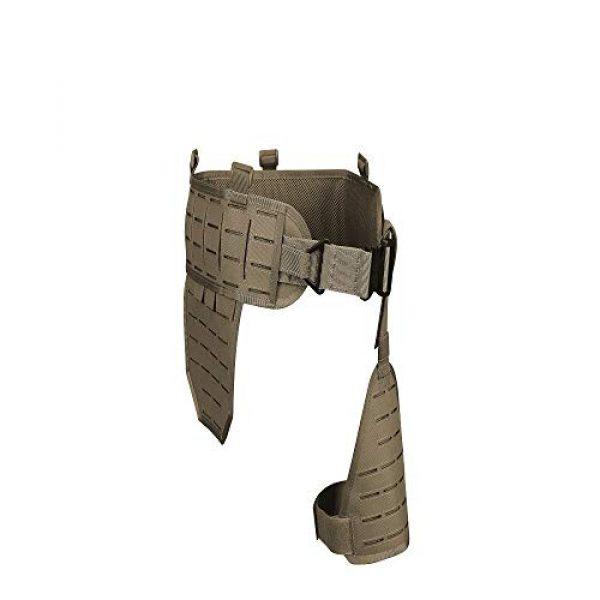 DETECH Airsoft Tactical Vest 1 DETECH Molle Padded Modular Belt Sleeve Tactical Inner Belt Drop Leg Platform Panel, Hip Panel Laser Cutting PALS Combo
