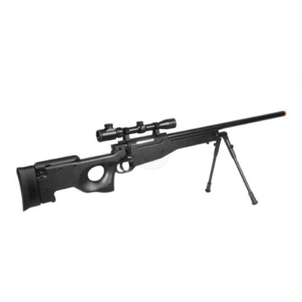 Well Airsoft Rifle 5 de airsoft shadow ops mk96 bolt action sniper rifle w/ bipod and scope(Airsoft Gun)