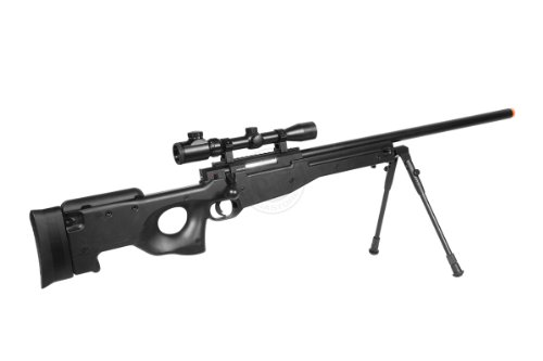 Well  5 de airsoft shadow ops mk96 bolt action sniper rifle w/ bipod and scope(Airsoft Gun)
