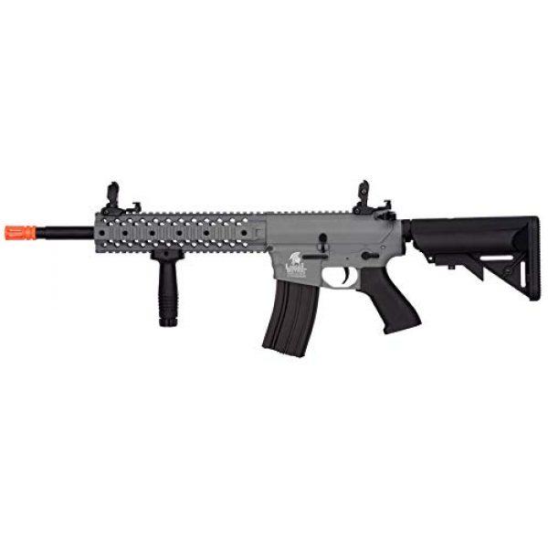 "Lancer Tactical Airsoft Rifle 1 Lancer Tactical New Gen EVO 13.5"" Barrel Free Float M4 Airsoft AEG (QuadRail_Gray)"
