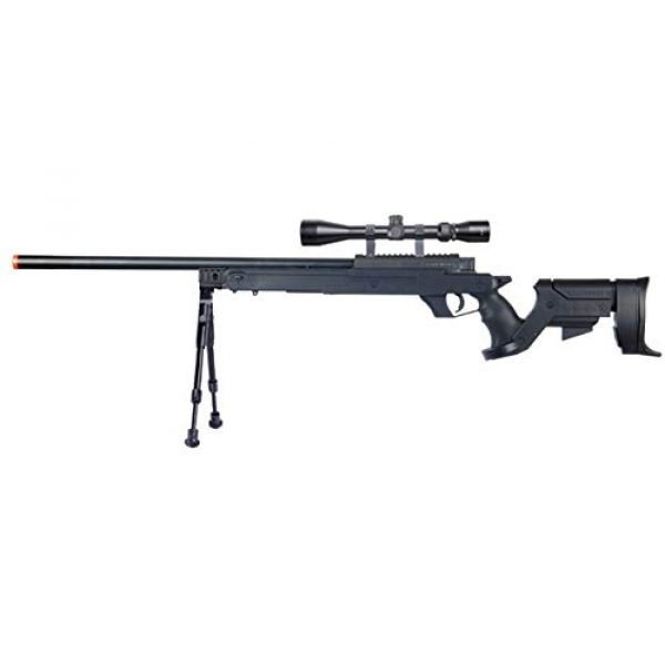 Well Airsoft Rifle 1 Well MB04 Airsoft Sniper Rifle W/Scope and Bipod - Black