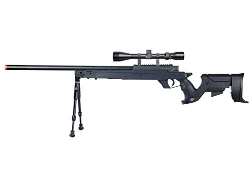 Well  1 Well MB04 Airsoft Sniper Rifle W/Scope and Bipod - Black