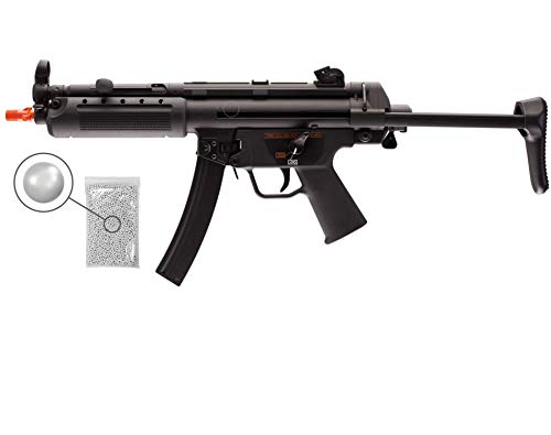 Wearable4U  1 Umarex HK Heckler&Koch MP5 A5 Elite Series AEG Electric Automatic 6mm BB Rifle Airsoft Gun with Wearable4U Bundle