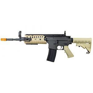 Jing Gong (JG) Airsoft Rifle 1 JG full metal gearbox desert tan aeg w/ integrated rail and high performance tight bore barrel - newest enhanced model by jg(Airsoft Gun)