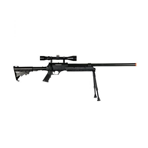 Well Airsoft Rifle 3 Well MB06AB Airsoft Bolt Action Sniper Rifle with Scope & Bipod FPS-460 - Black