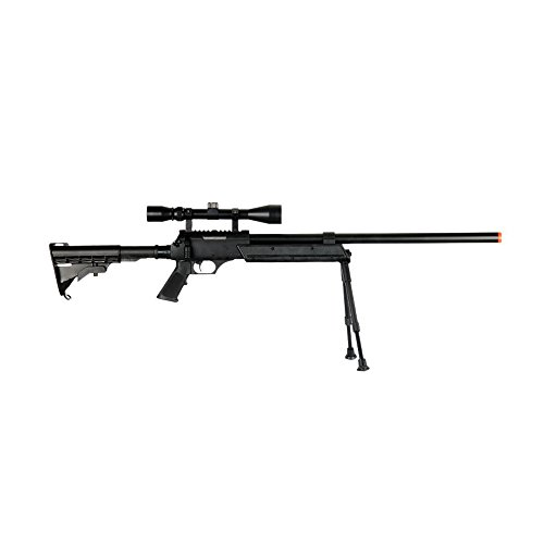 Well  3 Well MB06AB Airsoft Bolt Action Sniper Rifle with Scope & Bipod FPS-460 - Black