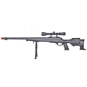 Well Airsoft Rifle 1 Well MB11 Airsoft Sniper Rifle W/Scope and Bipod - Black