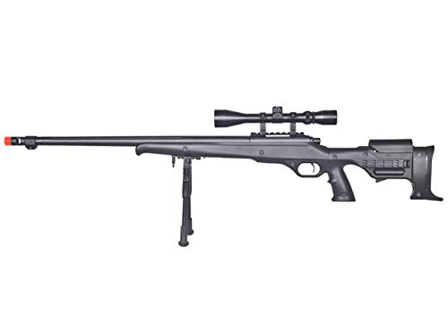 Well  1 Well MB11 Airsoft Sniper Rifle W/Scope and Bipod - Black
