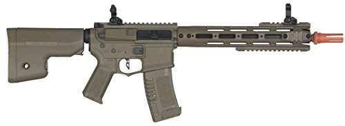 Elite Force Airsoft Rifle 2 Elite Force Amoeba AM-009 AEG Powered Automatic 6mm BB Rifle Airsoft Gun, Dark Earth Brown, One Size (2264501)